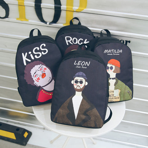 Leon Couple Canvas Backpack