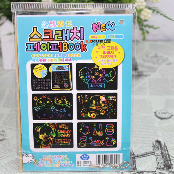 1 Piece Child Scratch Paper Book KINIYO Stationery