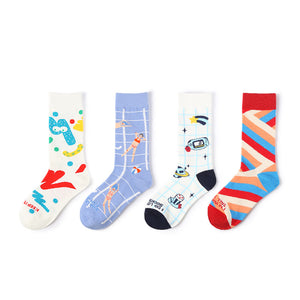 1 Pair Chic Cartoon Cotton Socks KINIYO Stationery