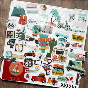 Paper Stickers 65 Pieces Travel Series