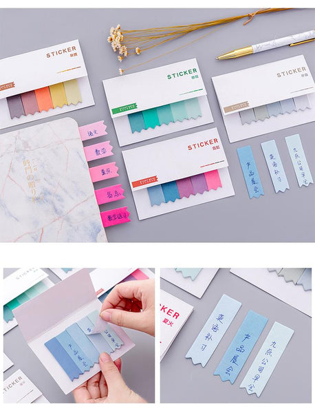 8pcs Colorful Index Tabs Flags Sticky Notes