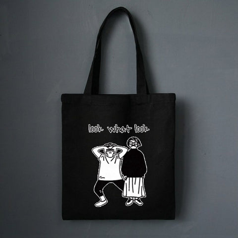 Comic Figure Canvas Handbag