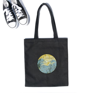 Japanese Ukiyoe Canvas Handbag