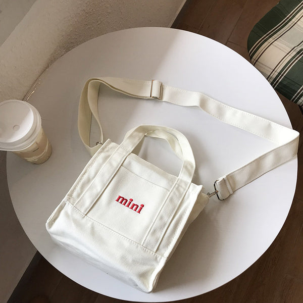 Embroidery Mini Canvas Shoulder Bag KINIYO Stationery