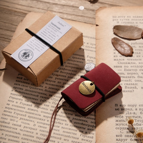 1 Piece Mini Leather Pocket Notebook KINIYO Stationery