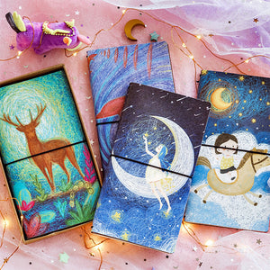 1 Piece Night Star Leather Planner Notebook