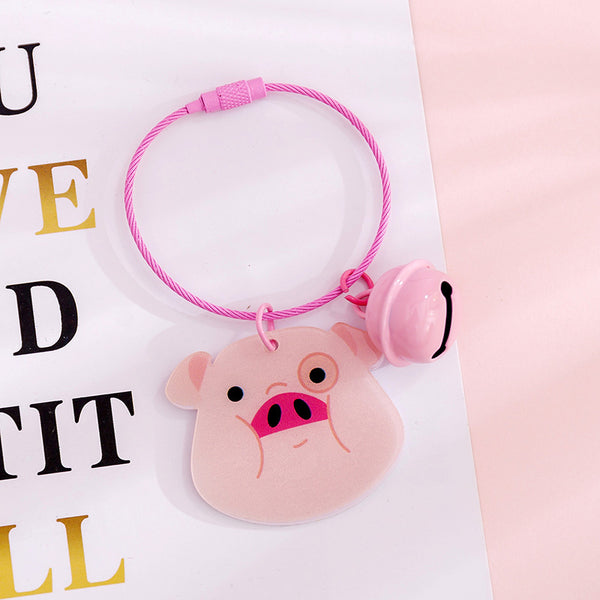 Pink Keychain with Small Bell KINIYO Stationery