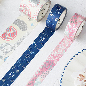 3 Rolls Sakura Washi Tape KINIYO Stationery