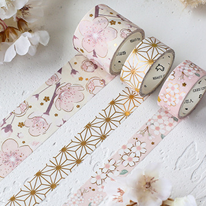 3 Rolls Pink Series Washi Tape