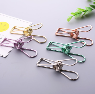 5pcs Retro Simple Metal Binder Clip