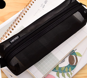 Large Capacity Nylon Mesh Pen Pencil Case
