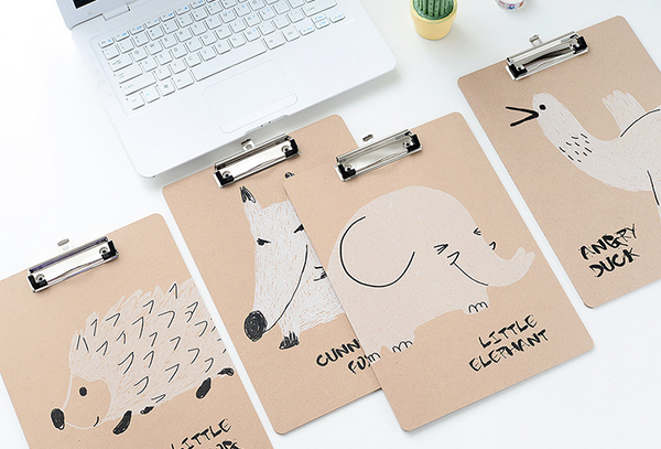 1 Piece Cartoon A4 Wooden Clip Board KINIYO Stationery
