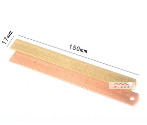 1 Piece Metal Simple Ruler KINIYO Stationery