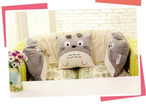 Totoro Pillow & Blanket Cushion Plush Toy-[variant_title]-MoMoChoice