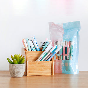 30pcs 0.5mm Cute 24 Black&6 Blue Value Pack Gel Pens KINIYO Stationery