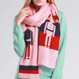 Cartoon Woolen Yarn Warm Shawl Scarf