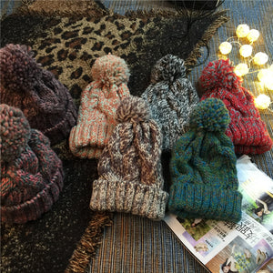 Assorted Colors Twist Knitted Beanie KINIYO Stationery