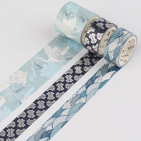 3 Rolls Blue Series Washi Tape