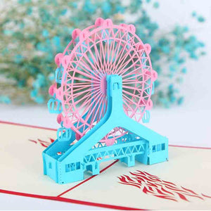 1 Piece Ferris Whee Folding 3D Greeting Card KINIYO Stationery