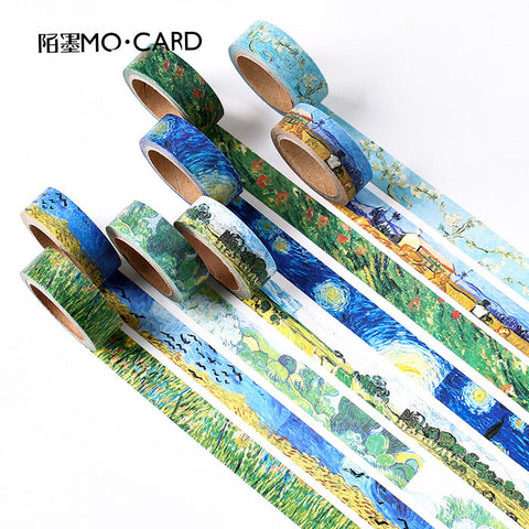 1.5cm Vincent Van Gogh Color DIY Deco Washi Tape KINIYO Stationery