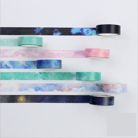 7pcs Water Color Washi Tape KINIYO Stationery