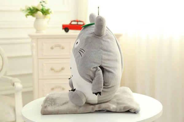 Totoro Pillow & Blanket Cushion Plush Toy