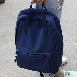 Leisure Style with Handle Canvas Backpack