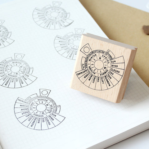1 Piece Weather&Temperature Wooden Stamp