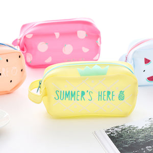 Silicone Fruit Jelly Pen Pencil Case
