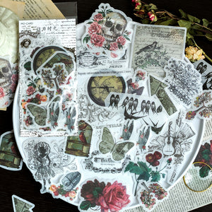 60pcs Vintage Sticker Set