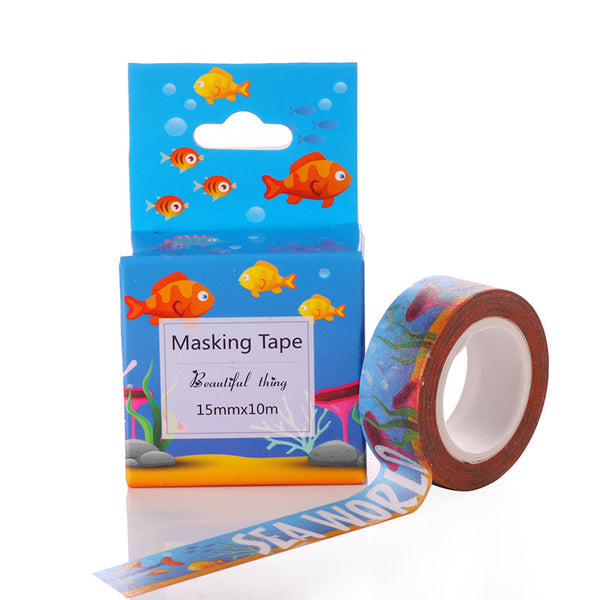 1 Piece Colorful Tearable Festival Decoration Tape KINIYO Stationery