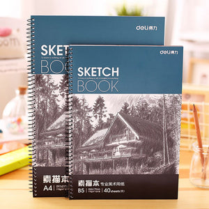 A4/B5 40 Sheets Spiral Sketch Book