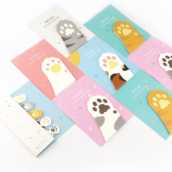 6pcs Cute Cat Claw Series Sticky Note