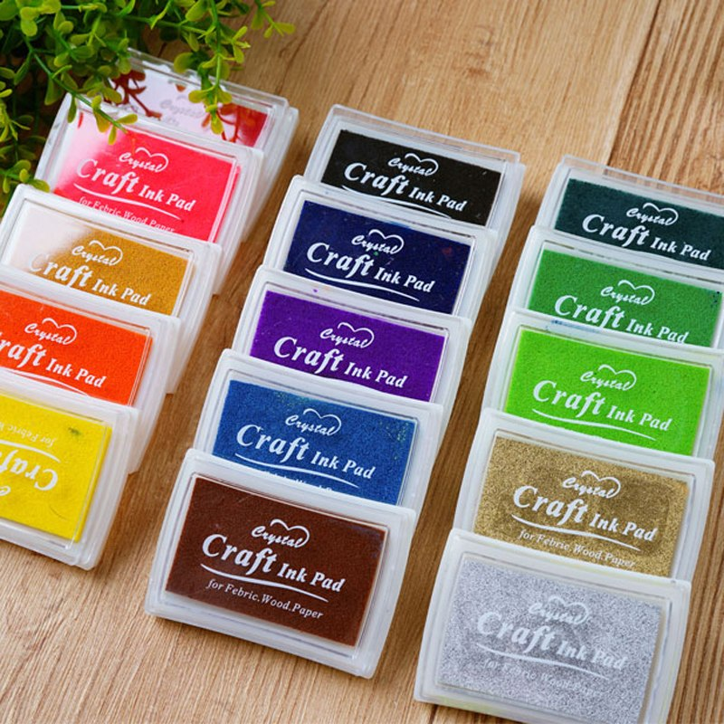15pcs Ink Pad for Stamps