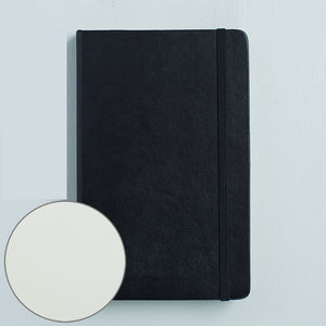 1 Piece A5 Leather Journal Notebook with Matching Placeholder Ribbon KINIYO Stationery