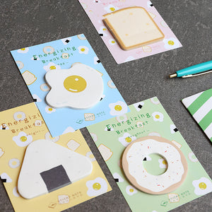 4pcs Energizing Breakfast  Sticky Note