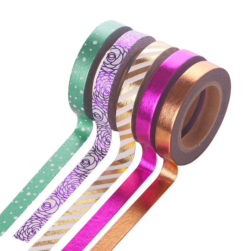 5pcs Colorful Tearable Decoration Tapes