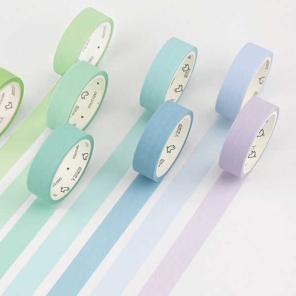 1 Piece Pure Color Washi Tape