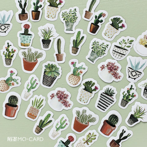 45pcs Plant Potting Decoration Stickers