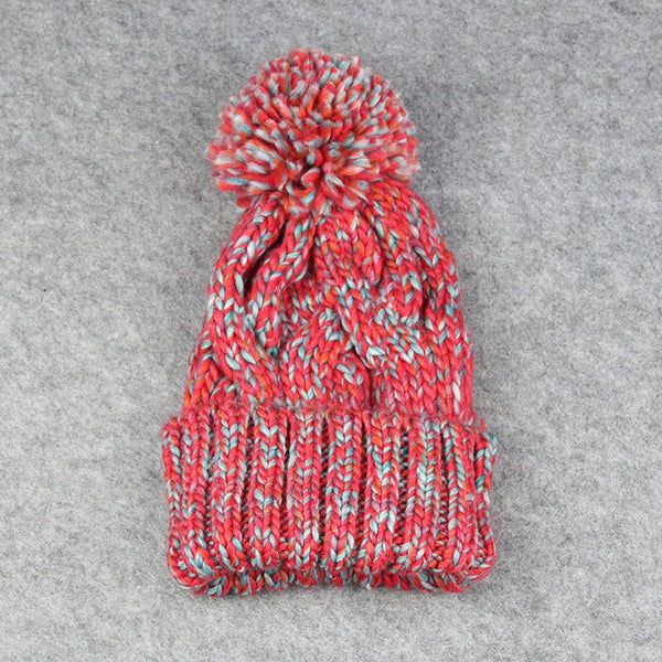 Assorted Colors Twist Knitted Beanie