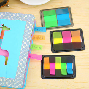 3pcs Index Tabs Fluorescence Color Sticky Note