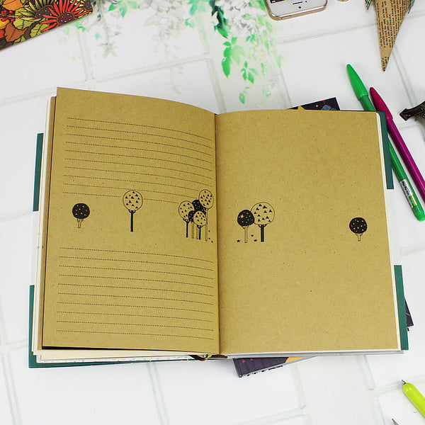 A5 Retro Coloring Schedule Notebook