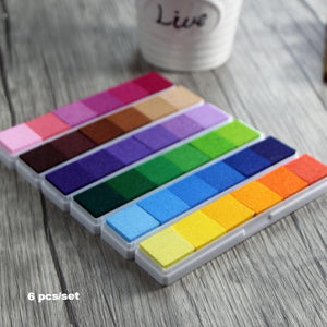 6pcs Gradient Color Ink Pad Bar