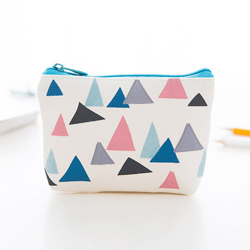 Brisk Color Mini Canvas Coin Purse
