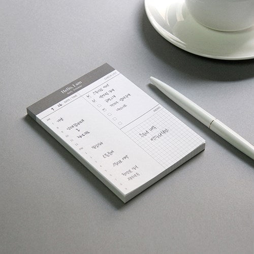 1 Piece Daily Schedule Writing Pad KINIYO Stationery