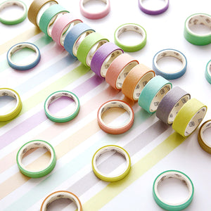 12 Rolls Washi Masking Tape Set