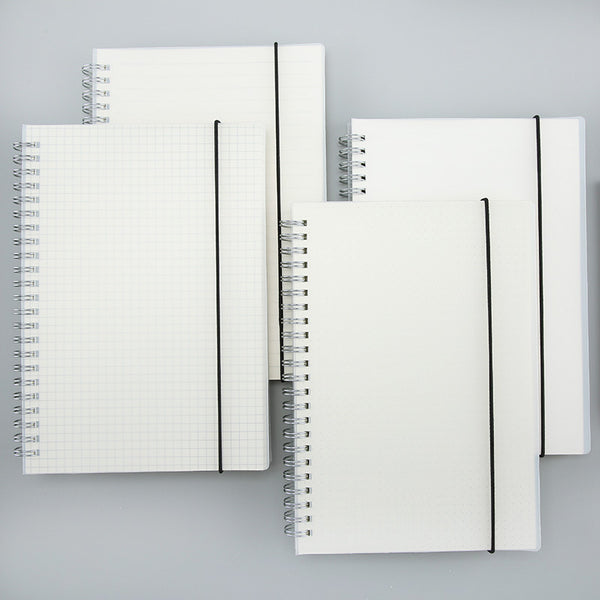 1 Piece A5 80 Sheets Waterproof Cover Gridding Spiral Notebook