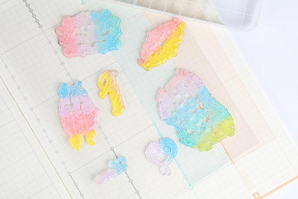 6pcs Gradient Color Ink pad for Stamps