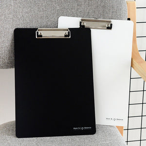 1 Piece Black/White A4 Writing Clip Board