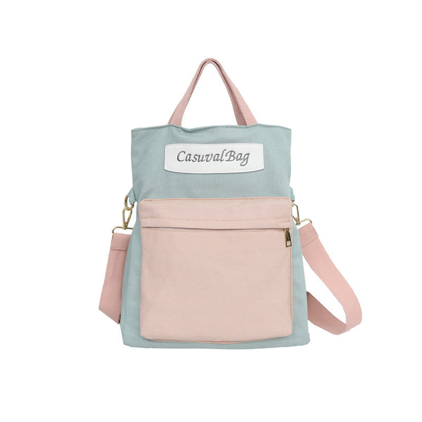Casuval School Canvas Multifunctional Shoulder Bag/Backpack